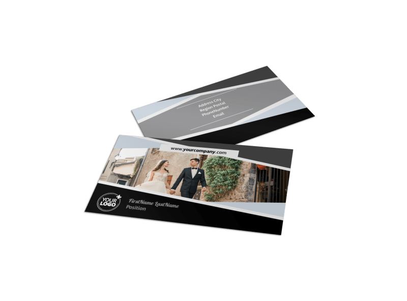 Wedding Video Service Business Card Template Preview 1