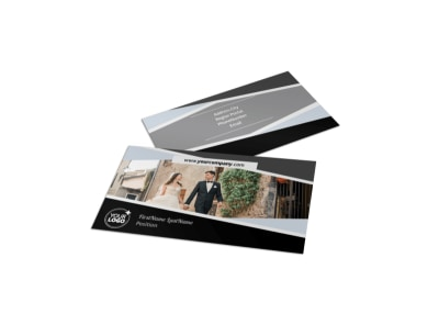 Wedding Video Service Business Card Template