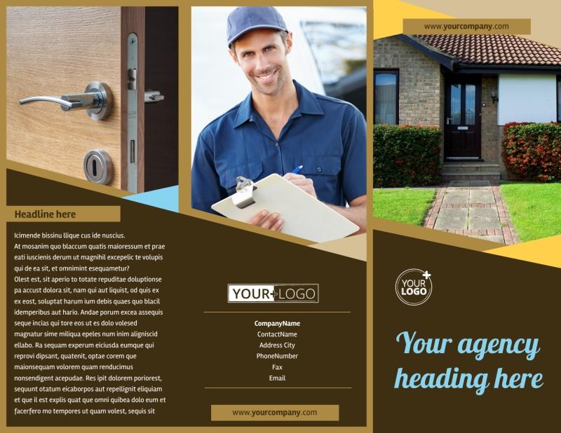 Window & Door Repair Brochure Template Preview 2