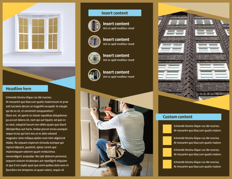 Window & Door Repair Brochure Template Preview 3