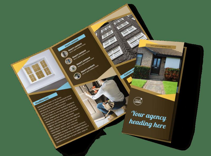 Window & Door Repair Brochure Template Preview 1