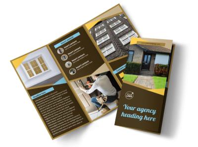 Window & Door Repair Tri-Fold Brochure Template