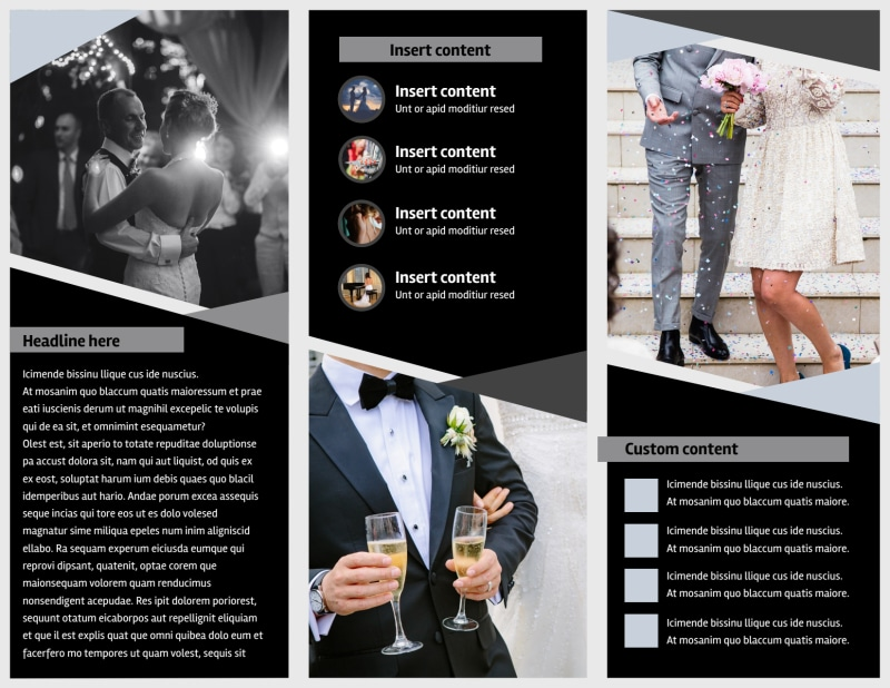 Wedding Video Service Brochure Template Preview 3