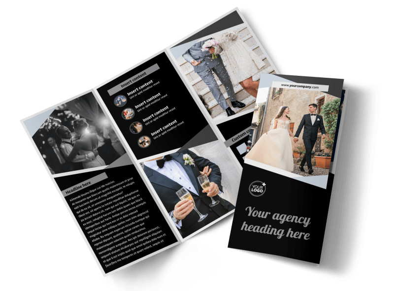 Wedding Video Service Brochure Template Preview 1