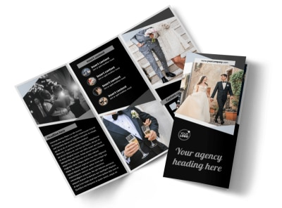Wedding Video Service Tri-Fold Brochure Template preview