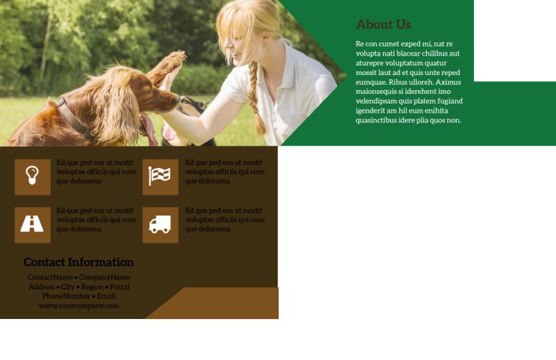 Pet Kennels Postcard Template Preview 3