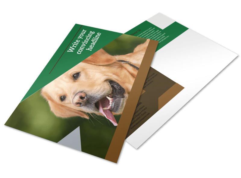 Pet Kennels Postcard Template Preview 1