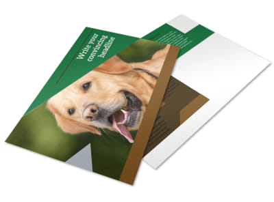 Dog Kennel & Pet Day Care Postcard Template preview