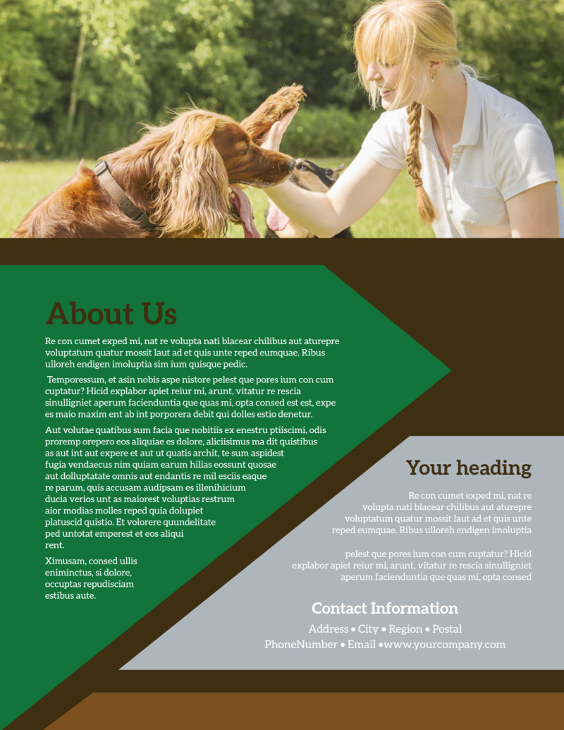 Pet Kennels Flyer Template Preview 3