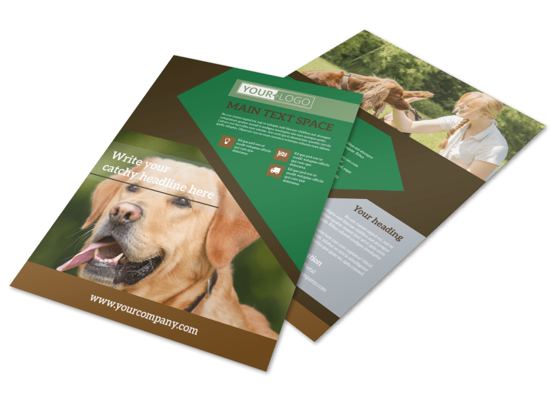 Pet Kennels Flyer Template Preview 1