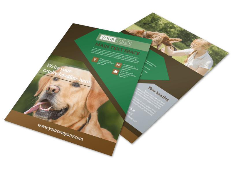 Dog Kennel & Pet Day Care Flyer Template