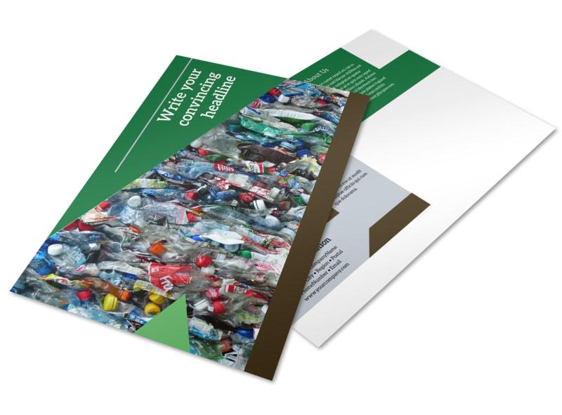 Litter & Recycling Center Postcard Template Preview 4