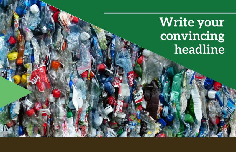 Litter & Recycling Center Postcard Template Preview 2