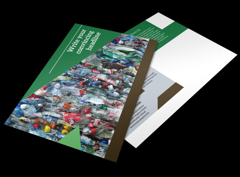 Litter & Recycling Center Postcard Template Preview 1