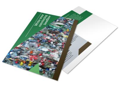 Litter & Recycling Center Postcard Template preview