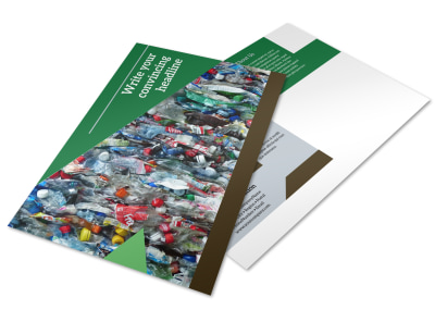 Litter & Recycling Center Postcard Template preview