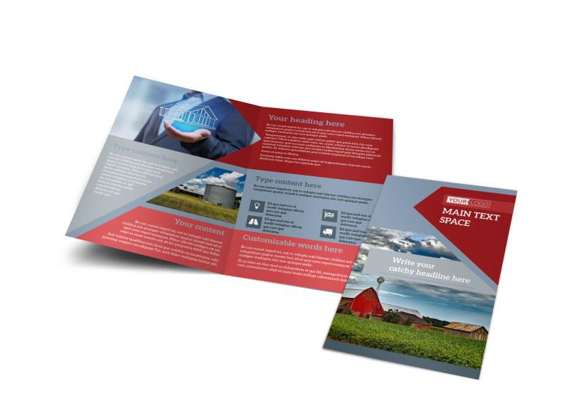 Farmers Insurance Bi-Fold Brochure Template