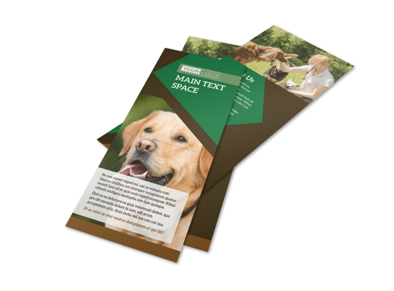 dog kennel  u0026 pet day care flyer template