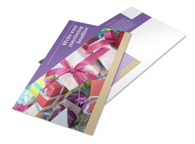 Gift Shop Postcard Template Preview 1