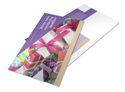 Gift Shop Postcard Template preview
