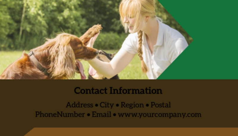 Pet Kennels Business Card Template Preview 3
