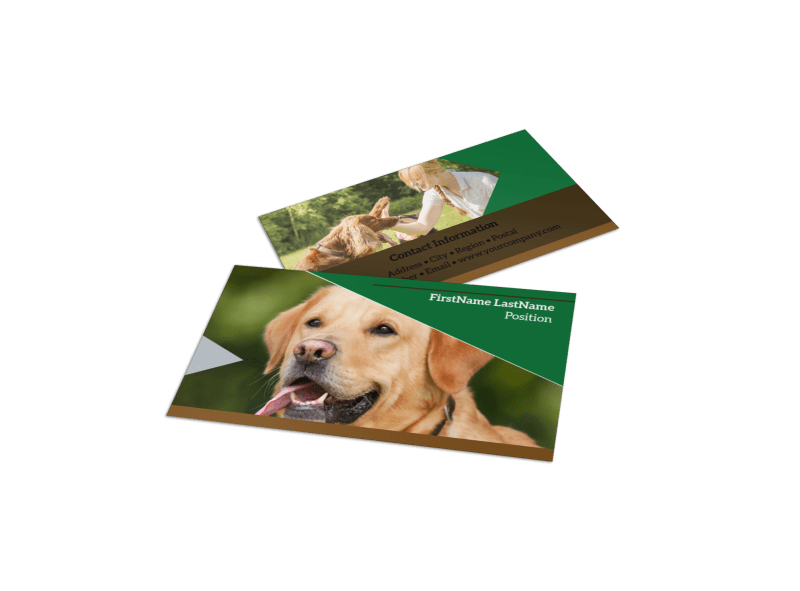 Pet Kennels Business Card Template Preview 1