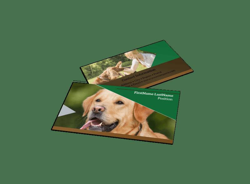 pet kennels business card template