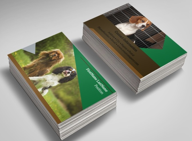 dog kennel  u0026 pet day care business card template