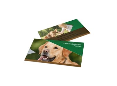 Dog Kennel & Pet Day Care Business Card Template preview