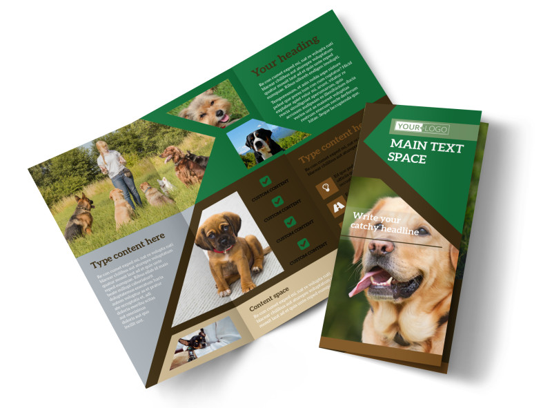 Pet Kennels Brochure Template Mycreativeshop