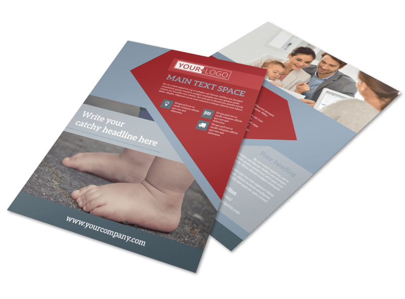 Adoption Agency Flyer Template Preview 1