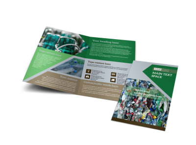 Litter & Recycling Center Bi-Fold Brochure Template preview