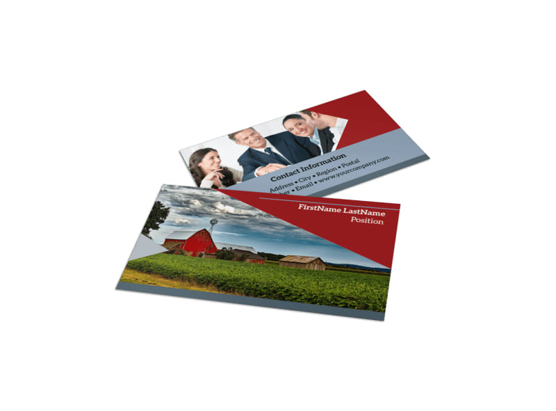 farmers insurance business card template  Farmers Insurance Business Card Template | MyCreativeShop