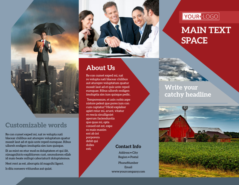 Farmers Insurance Brochure Template Preview 2