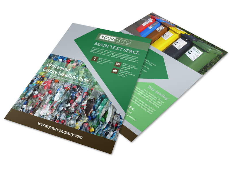 Litter & Recycling Center Flyer Template Preview 4