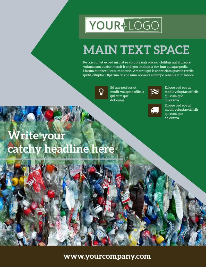Litter & Recycling Center Flyer Template Preview 2