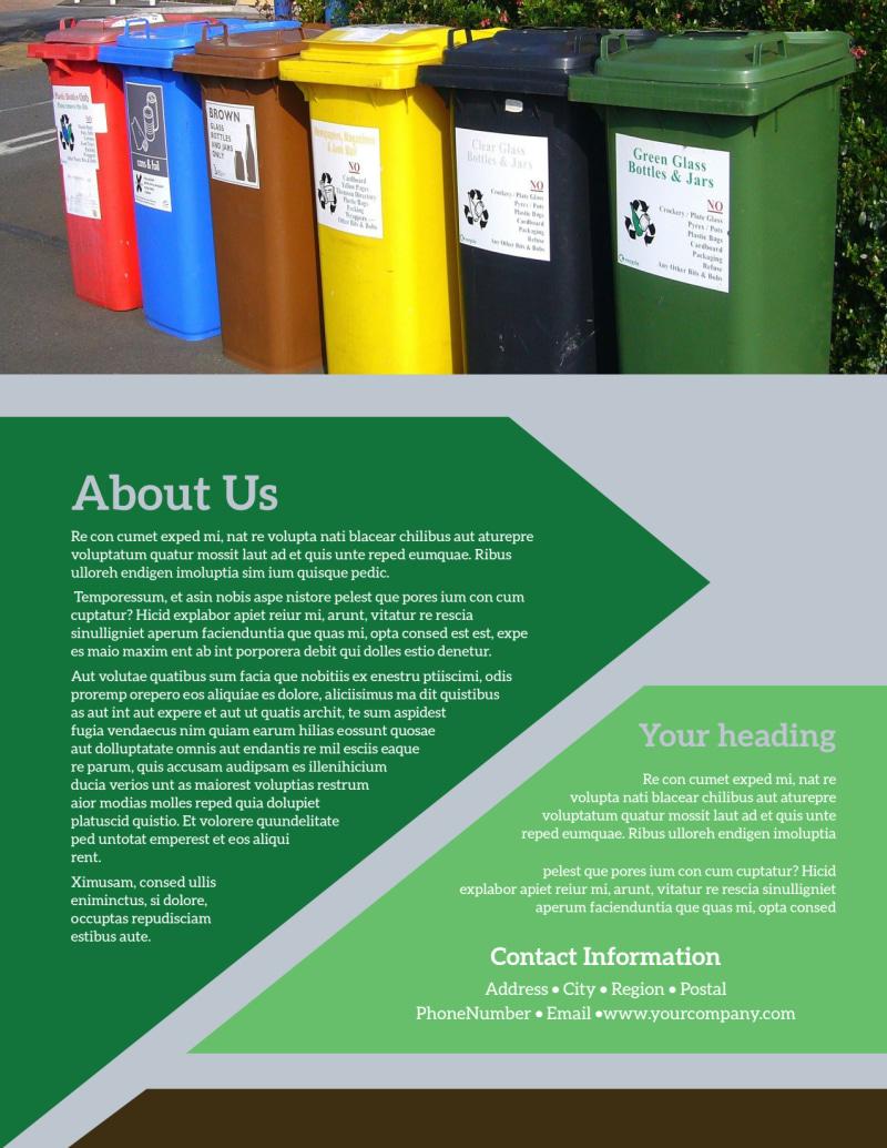 Litter & Recycling Center Flyer Template Preview 3