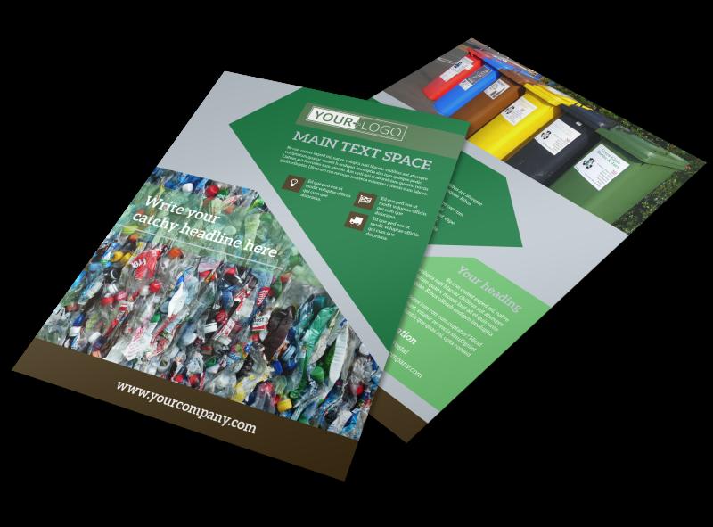 Litter & Recycling Center Flyer Template Preview 1