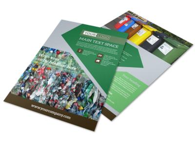 Litter & Recycling Center Flyer Template preview