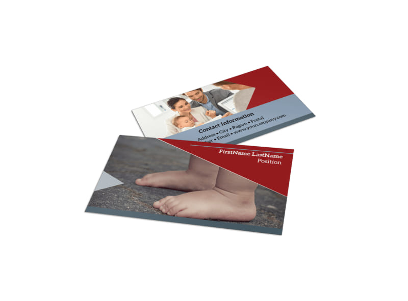 Adoption Agency Business Card Template Preview 4
