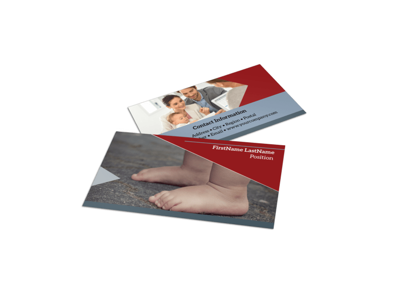 Adoption Agency Business Card Template Preview 1