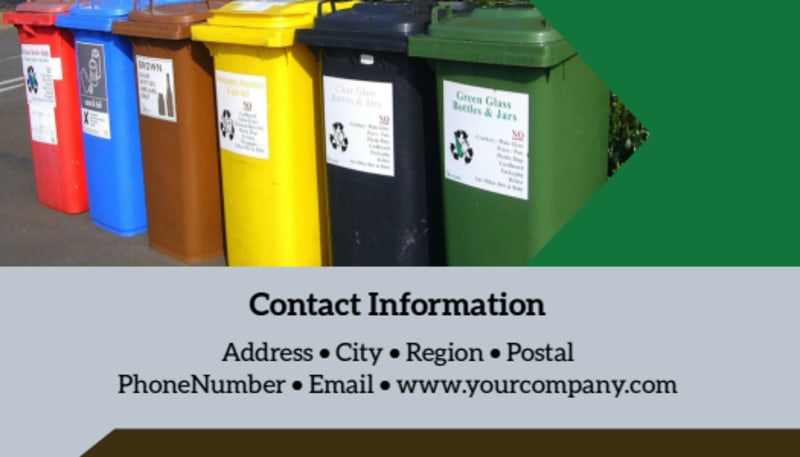 Litter & Recycling Center Business Card Template Preview 3