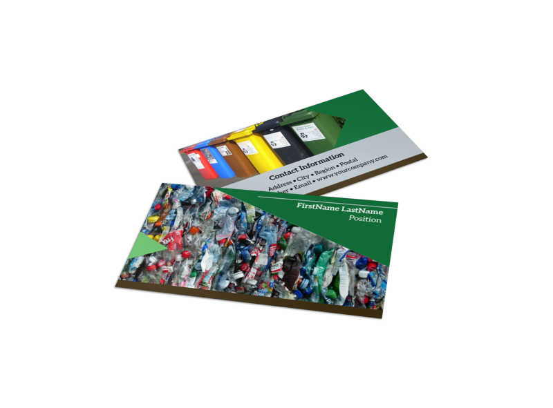 Litter & Recycling Center Business Card Template Preview 1