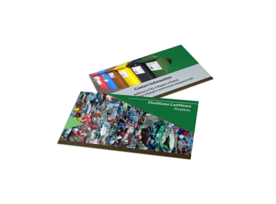 Litter & Recycling Center Business Card Template preview