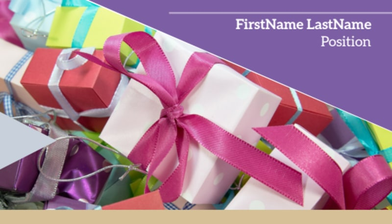 Gift Shop Business Card Template Preview 2