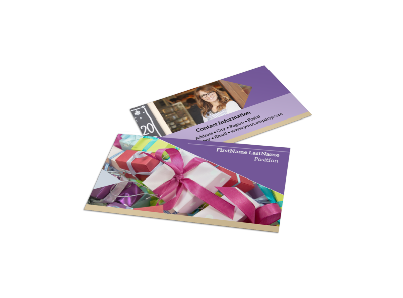 Gift Shop Business Card Template Preview 1