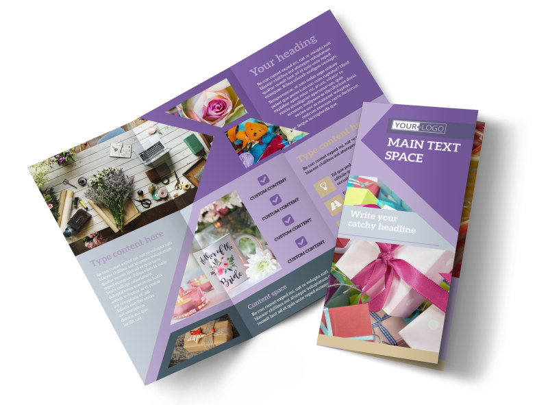 Gift Shop Brochure Template Preview 4