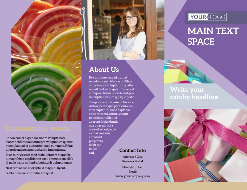 Gift Shop Brochure Template Preview 2