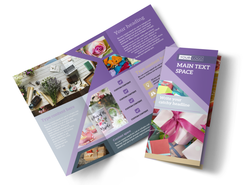 Gift Shop Brochure Template Preview 1