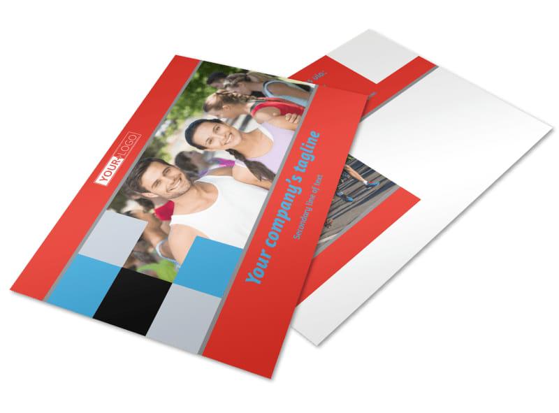 Marathon Race Fundraiser Postcard Template 2